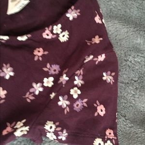 Maroon with flowers